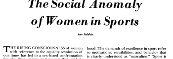 FIRST: Peer-reviewed sport science research on homophobia in female sport