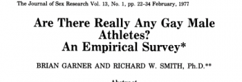 FIRST: Study of the population size of gay and bisexual athletes