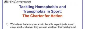 "FIRST: UK Sport joint commitment to ""rid their sports of homophobia and transphobia"""